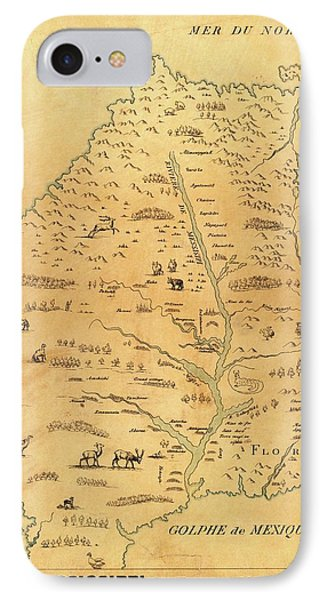 Marquette iPhone 7 Case - Map Of The Mississippi River by Library Of Congress, Geography And Map Division