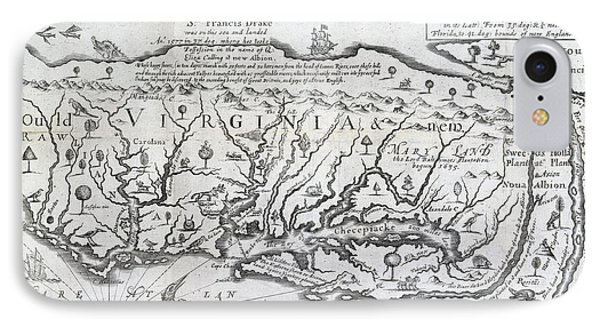 Map Of Virginia IPhone Case by British Library