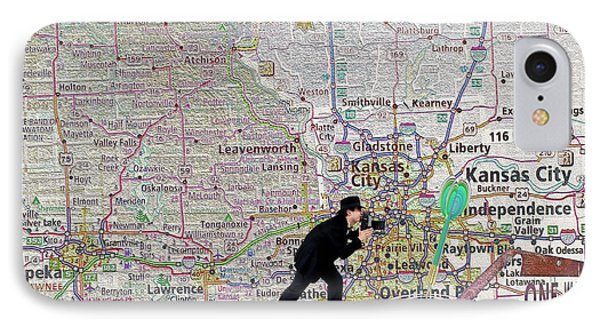 Map Overland Park Kansas Phone Case by Liane Wright