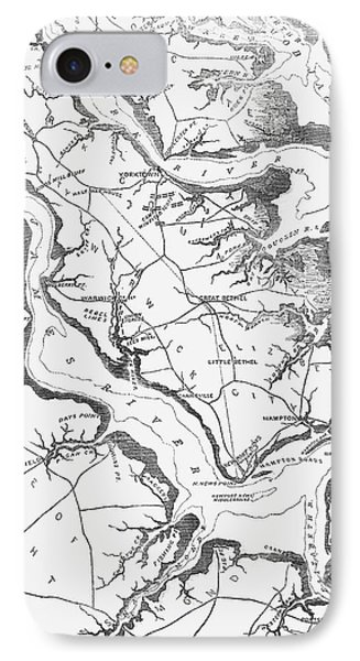 Map Yorktown, 1862 IPhone Case by Granger