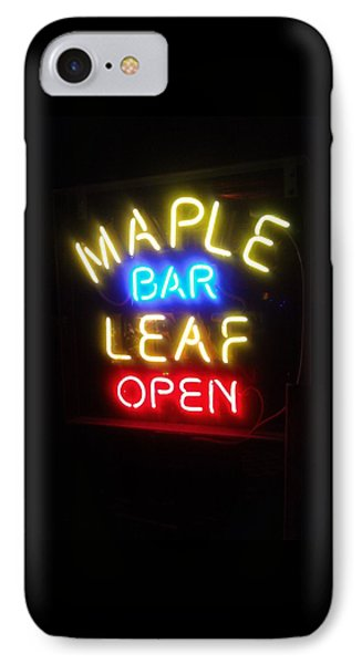 Maple Leaf Bar IPhone Case
