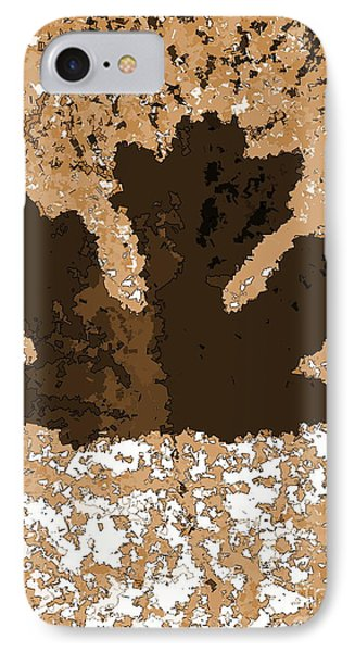 Maple Leaf Brown  Hues IPhone Case