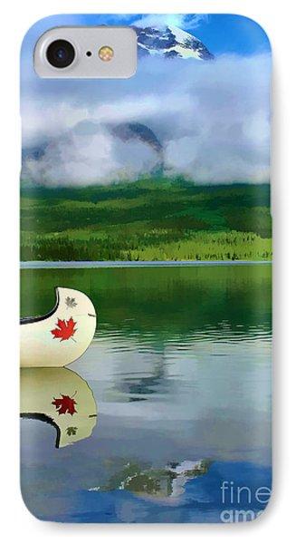 Maple Leaf Canoe On Pyramid Lake Phone Case by Teresa Zieba