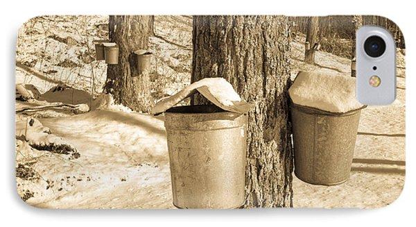 Maple Sap Buckets Phone Case by Edward Fielding