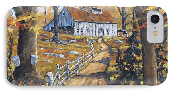 Maple Sugar Bush  Road By Prankearts IPhone Case by Richard T Pranke