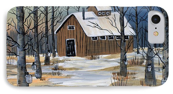 Maple Syrup Shack IPhone Case by Brenda Brown