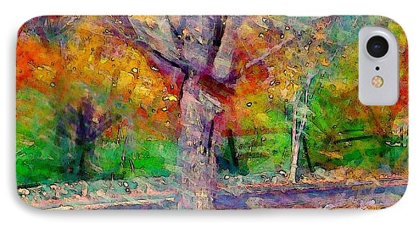 Maple Tree In Autumn - Square IPhone Case by Lyn Voytershark