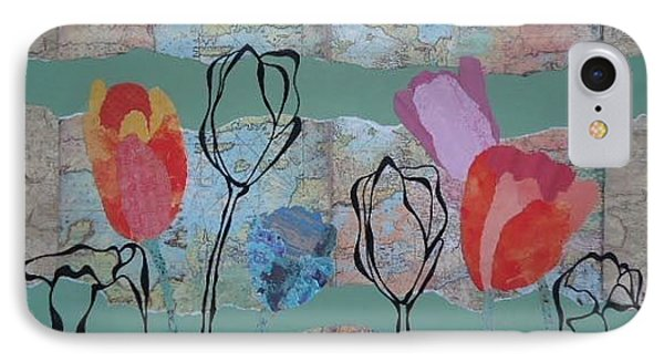 Mapping Tulips Phone Case by Glenn Calloway