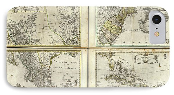 Maps Of North America IPhone Case by Library Of Congress, Geography And Map Division