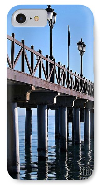 IPhone Case featuring the photograph Marbella Pier Spain by Clare Bevan