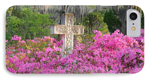 IPhone Case featuring the photograph Marble Cross And Azaleas by Bradford Martin