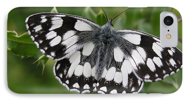 Marbled White IPhone Case by Ron Harpham