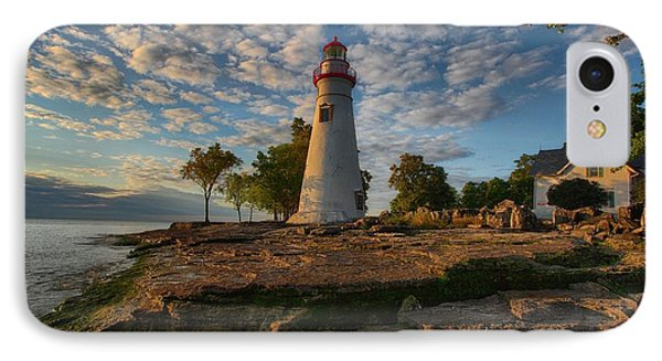 Marblehead Lighthouse IPhone Case by Daniel Behm