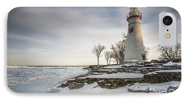 Marblehead Lighthouse Winter IPhone 7 Case by James Dean