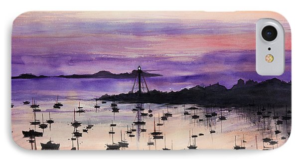 Marblehead Sunset Watercolor Phone Case by Michelle Wiarda
