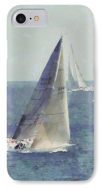 Marblehead To Halifax Ocean Race Phone Case by Jeff Folger