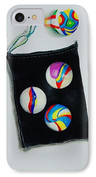 Marbles IPhone Case by Jean Cormier