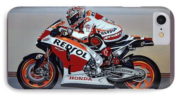 Marc Marquez Phone Case by Paul Meijering