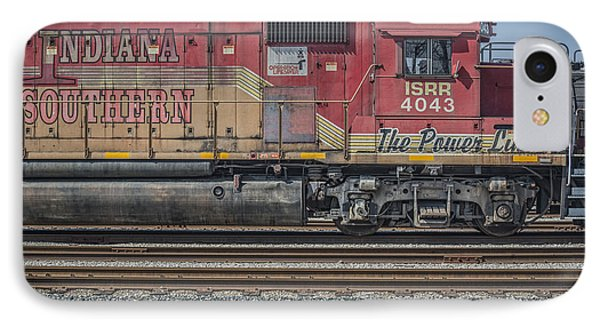 March 11. 2015 - Indiana Southern Railway Engine 4043 IPhone Case by Jim Pearson