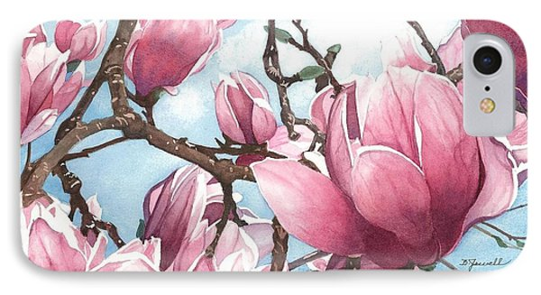 IPhone Case featuring the painting March Magnolia by Barbara Jewell