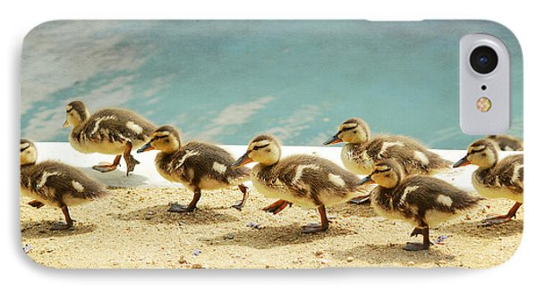 March Of The Ducklings Phone Case by Fraida Gutovich
