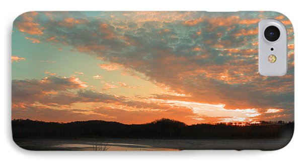 IPhone Case featuring the photograph March Sunset With Signature by Lorna Rogers Photography
