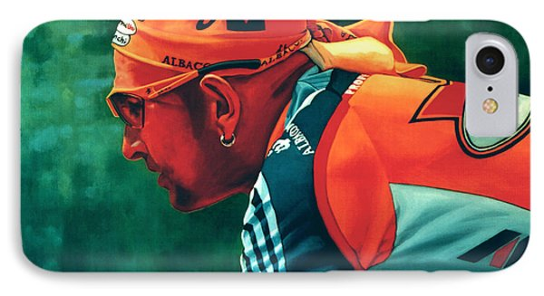 Marco Pantani 2 IPhone Case by Paul Meijering