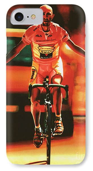 Marco Pantani IPhone Case by Paul Meijering