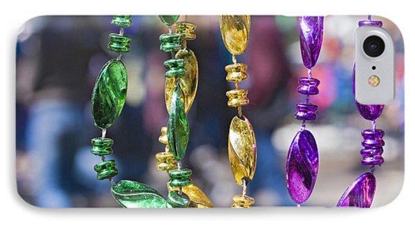 Mardi Gras Beads Phone Case by Ray Devlin