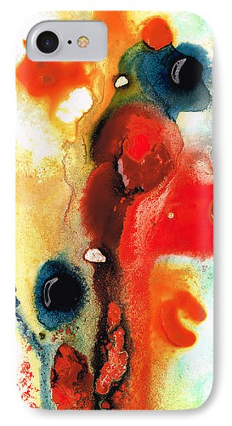 Mardi Gras - Colorful Abstract Art By Sharon Cummings IPhone Case by Sharon Cummings