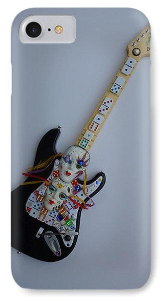 IPhone Case featuring the sculpture Mardi Gras Guitar by Douglas Fromm