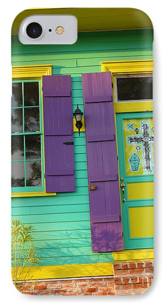 Mardi Gras House IPhone Case by Jeanne  Woods