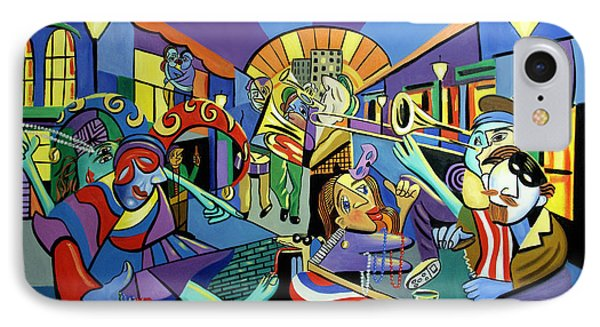 Mardi Gras Lets Get The Party Started IPhone Case by Anthony Falbo