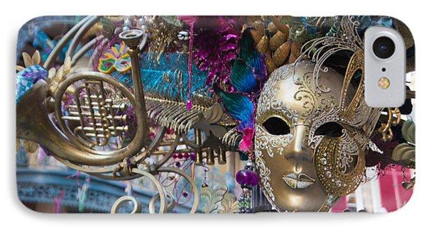 Mardi Gras Mask Phone Case by Heidi Smith