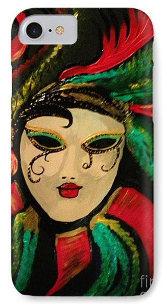 IPhone Case featuring the painting Mardi Gras Memory by Brigitte Emme