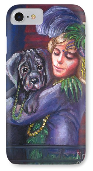 Mardi Gras Puppy Phone Case by Beverly Boulet