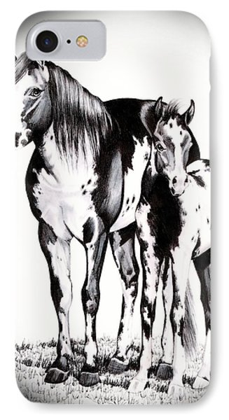 Mare And Colt IPhone Case by Cheryl Poland