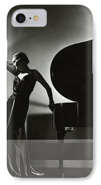 Margaret Horan Posing Beside A Piano IPhone Case by Edward Steichen