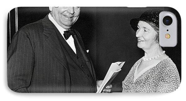 Margaret Sanger With Senator IPhone Case by Underwood Archives