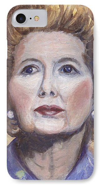 Margaret Thatcher Two Phone Case by Linda Mears