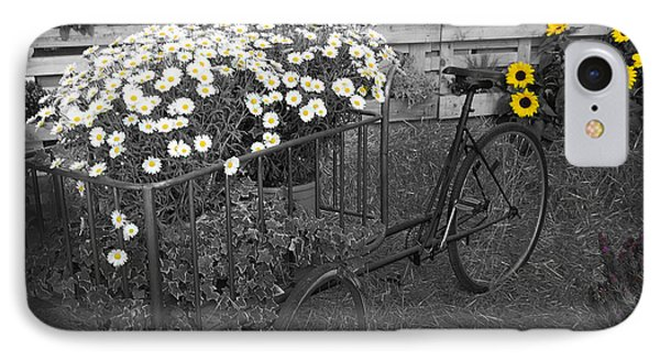 Marguerites And Bicycle IPhone Case by Gina Dsgn