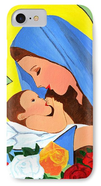 IPhone Case featuring the painting Maria And Baby Jesus by Magdalena Frohnsdorff