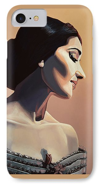 Maria Callas Painting IPhone Case