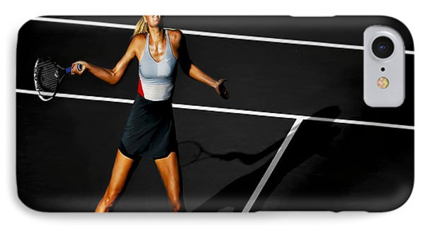 Maria Sharapova IPhone Case by Brian Reaves