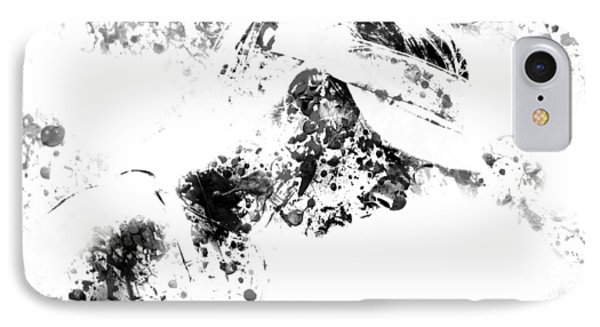 Maria Sharapova Paint Splatter 4g IPhone Case by Brian Reaves