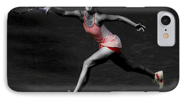 Maria Sharapova Reaching Out IPhone Case by Brian Reaves