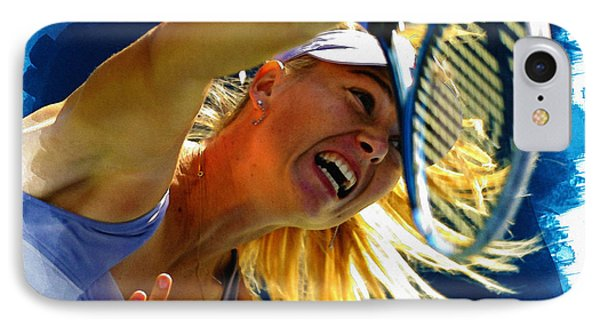 Maria Sharapova  In Action During The Women's Singles  IPhone Case by Don Kuing