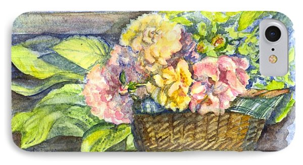Marias Basket Of Peonies IPhone Case by Carol Wisniewski