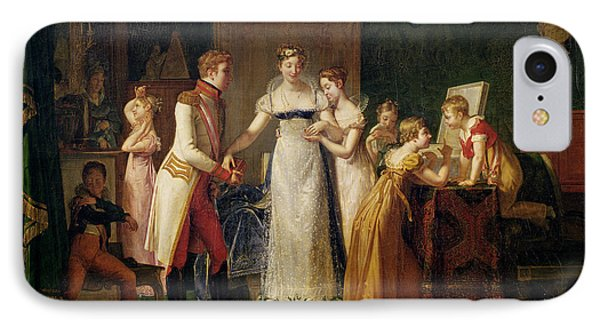 Marie-louise Of Austria Bidding Farewell To Her Family In Vienna IPhone Case by Pauline Auzou