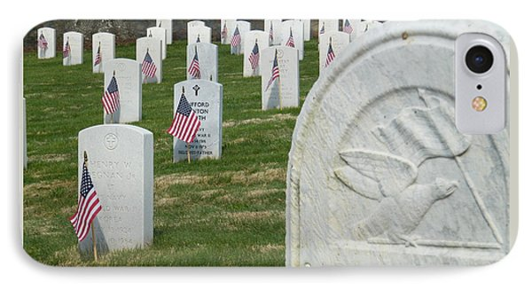 Marietta Natl Cemetery 3 IPhone Case by Cheryl Hardt Art